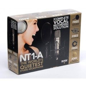 Rode NT1A Condenser Microphone Studio Bundle