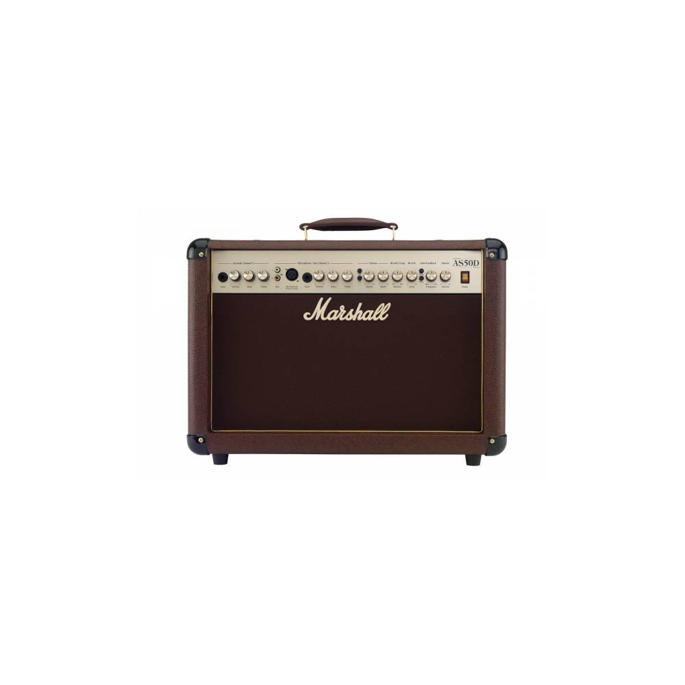 MARSHALL 50-WATTS ACOUSTIC SOLOIST GUITAR COMBO AMPLIFIER   AS-50D