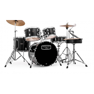 Mapex, Drum Set, Tornado, 5Pcs w /Hw, Throne & Cymbals-Black, Blue, Wine Red