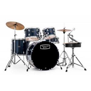 Mapex, Drum Set, Tornado, 5Pcs w /Hw, Throne & Cymbals-Black