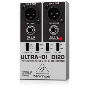 Behringer Ultra-DI DI20 2 Channel Active DI Box