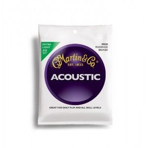 Martin & Co M530 - 92/8 Phosphor Bronze Extra Light Acoustic Guitar Strings