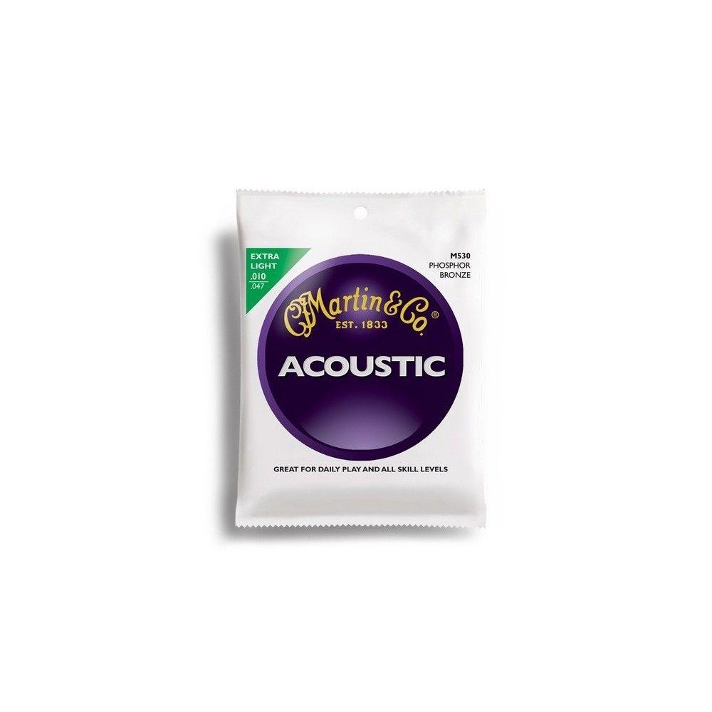 Martin & Co M530 - 92/8 Phosphor Bronze Extra Light Acoustic Guitar Strings
