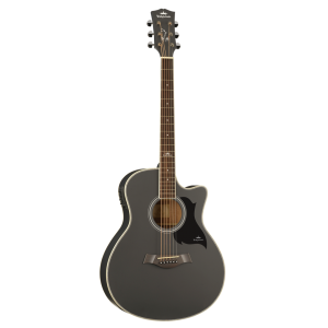 Kepma A1CE Semi Acoustic Guitar - Black Matt