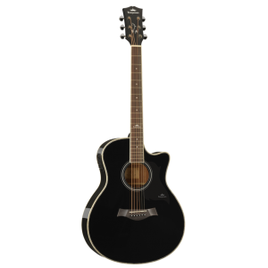 Kepma A1CE Semi Acoustic Guitar- Black Gloss