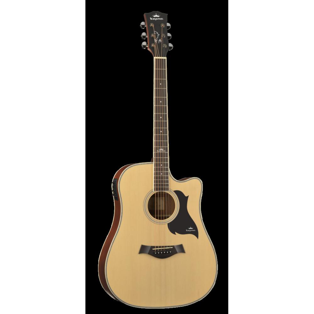 Kepma D1CE Semi Acoustic Guitar - Matte