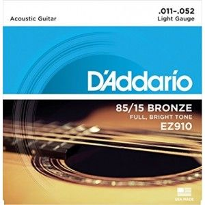 D'Addario EZ910 Bronze Acoustic Guitar Strings- 0.11/0.52