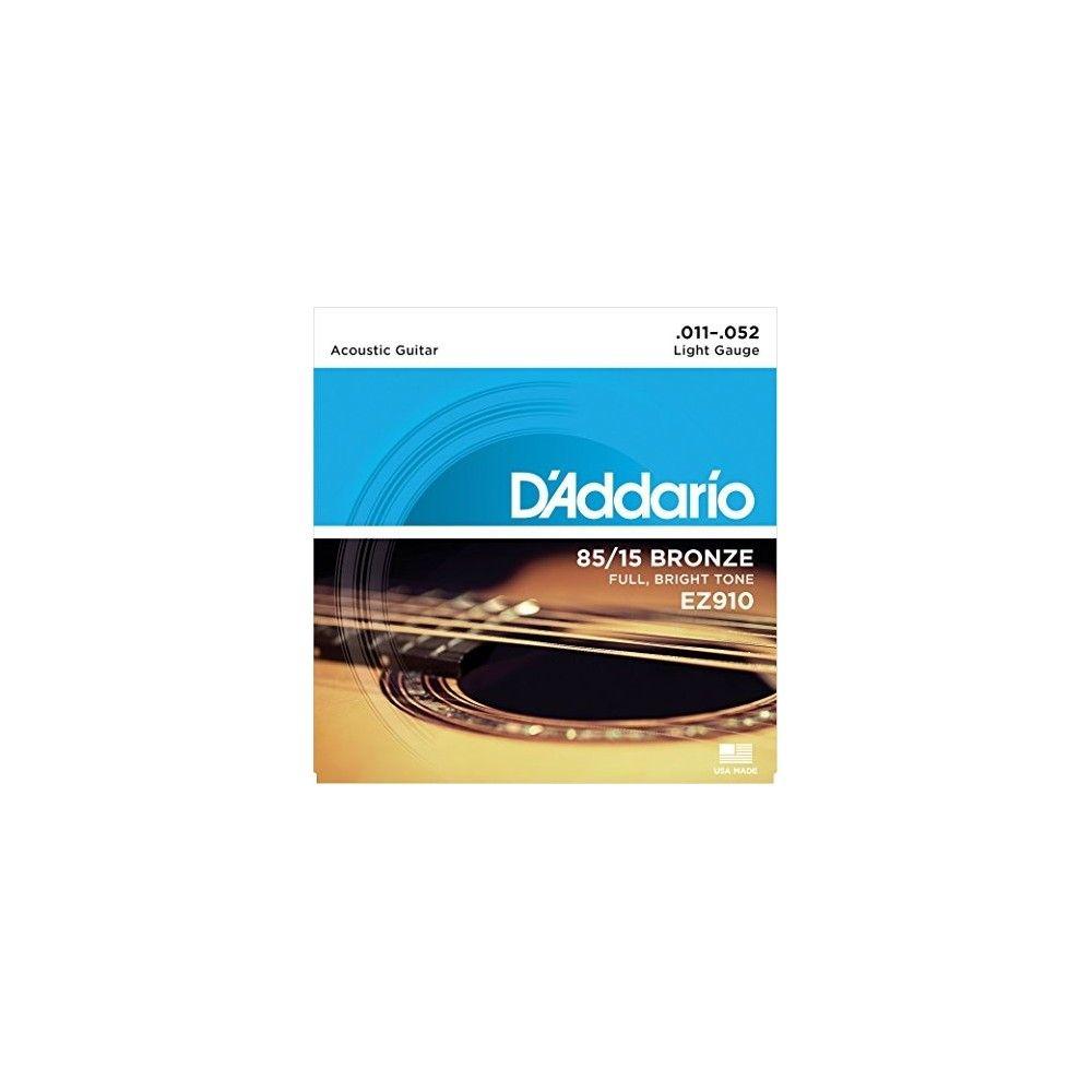 D'Addario EZ910 Bronze Acoustic Guitar Strings- 0.11/0.52