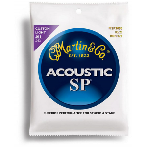 Martin MSP3050 80/20 Bronze Custom Light Acoustic Guitar Strings