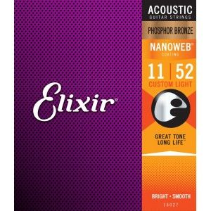 Elixir 16027 Nanoweb Custom Light Phosphor Bronze Acoustic Strings