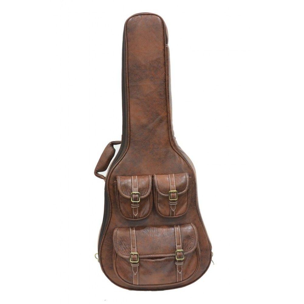 Revolt Special Deluxe Acoustic Guitar Bag - Brown