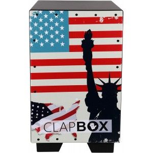 Clapbox Graphic Cajon - American Maple, Brown