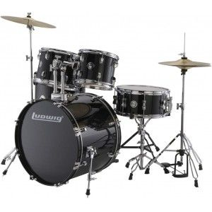 Ludwig Drum Set - Accent Drive Black 5-Pcs