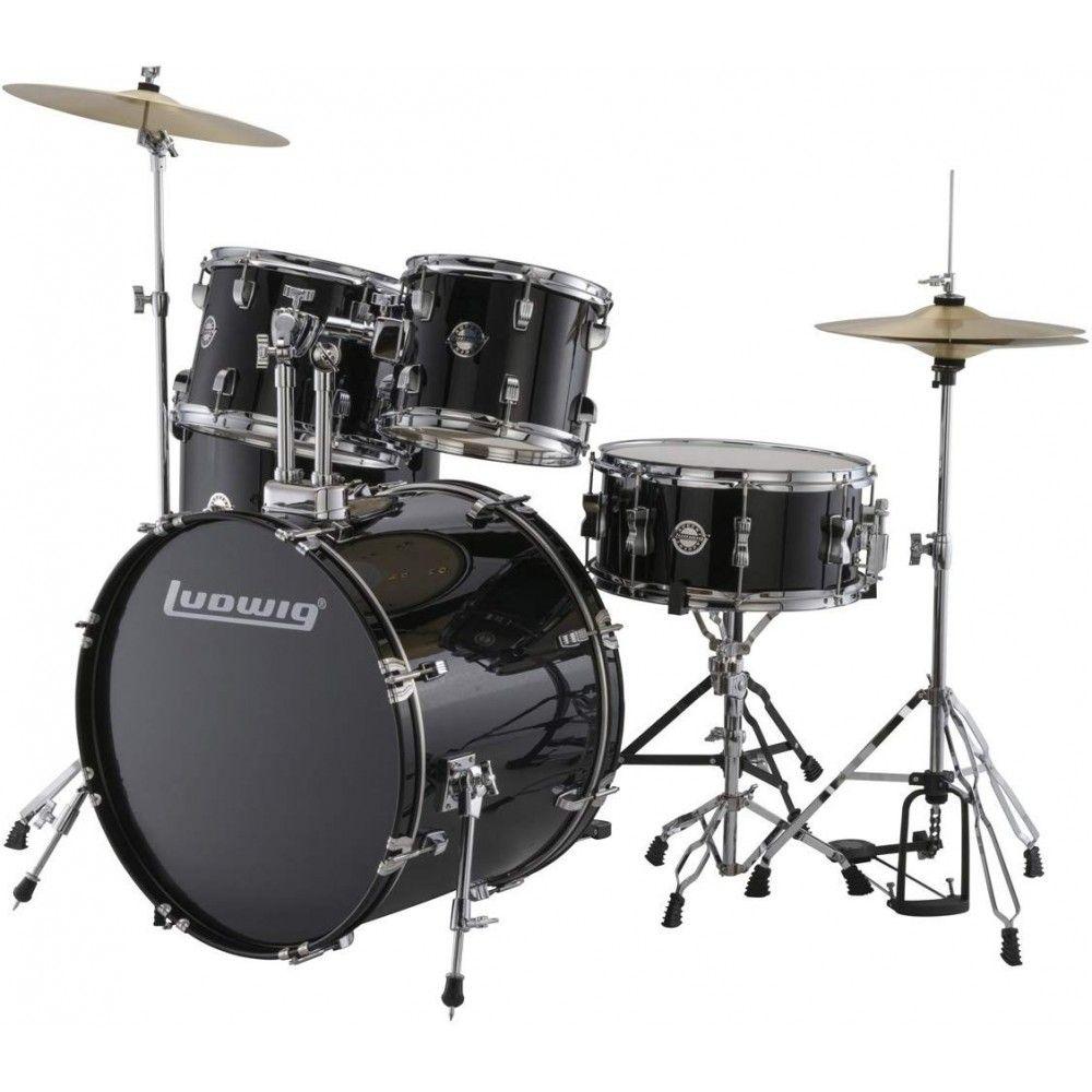 Ludwig Drum Set - Accent Drive Black 5-Pcs