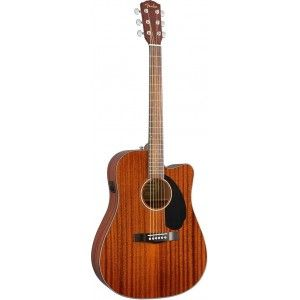 Fender CD-60SCE ALL MAH Dreadnought Semi Acoustic Guitar