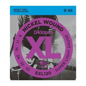 D'Addario EXL120 Super Light Electric Guitar String Set