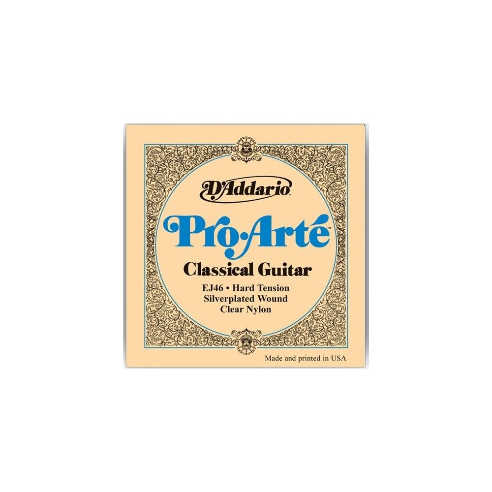 D'Addario Pro Arte Classical Guitar Strings, Hard Clear - Set EJ46