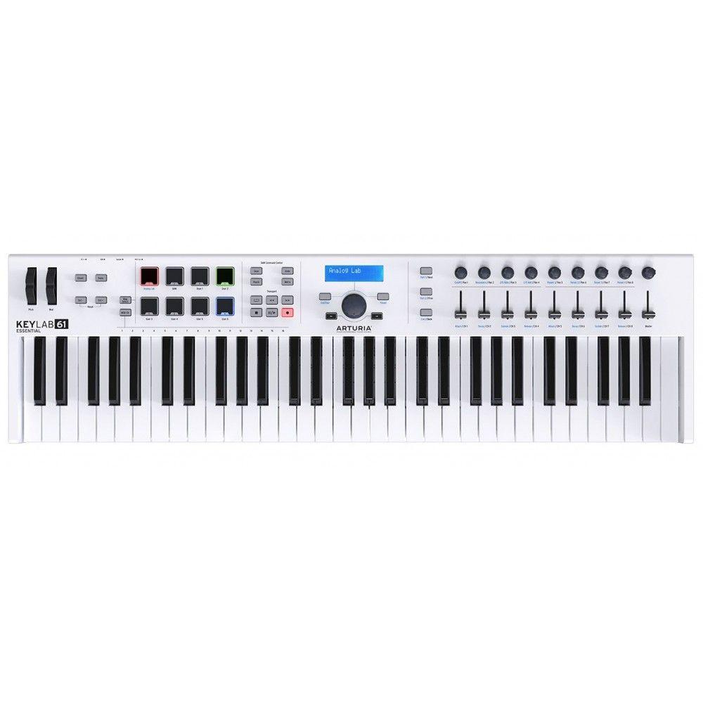 Arturia Keylab Essential 61 Midi Controller Keyboard- White
