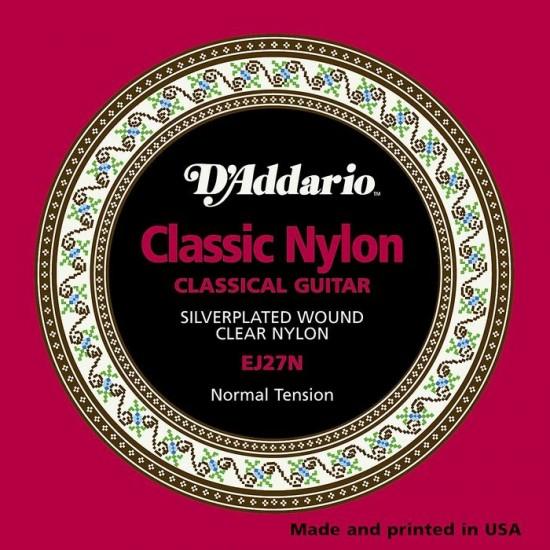 D'Addario EJ27N Student Nylon, Normal Tension Classical Guitar Strings Set