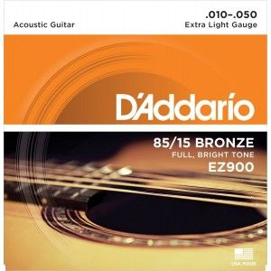 D'Addario, Acoustic Guitar Strings, 85/15 Bronze .010-.050 - Set EZ900