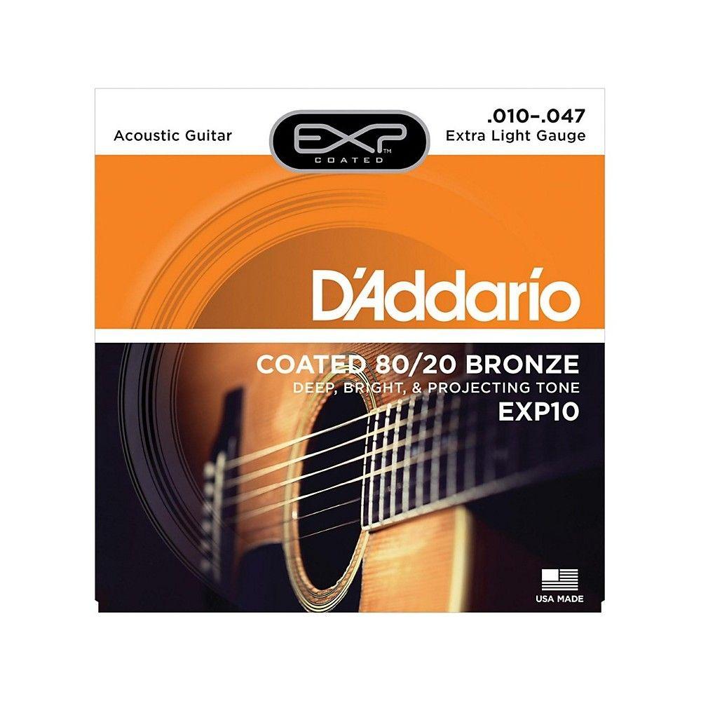 d 39 addario acoustic guitar strings 80 20 bronze 010 047 set exp10 extra light. Black Bedroom Furniture Sets. Home Design Ideas