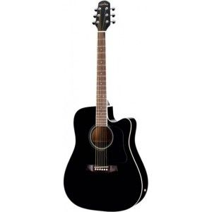 Walden D350CEB Semi Acoustic Guitar, Standard Series -Black