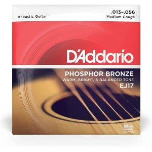 D'Addario EJ17 Acoustic Guitar String Phosphor Bronze Medium .013-.056