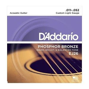D'Addario EJ26 Acoustic Guitar String Phosphor Bronze Custom Lite .011-.052