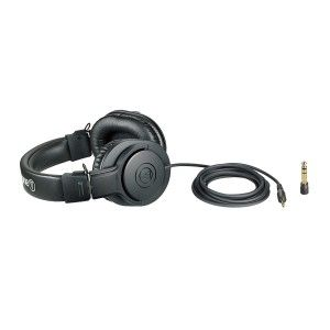 Audio-Technica ATH-M20x  Professional Studio Monitor Headphones (Black)