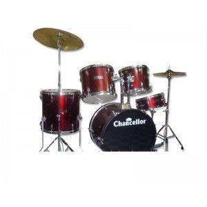 Chancellor 5Pcs Drum Kit - Wine Red