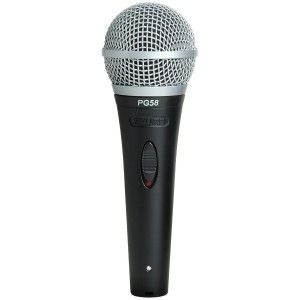 Shure PG-58 Dynamic Vocal Microphone (without cable)