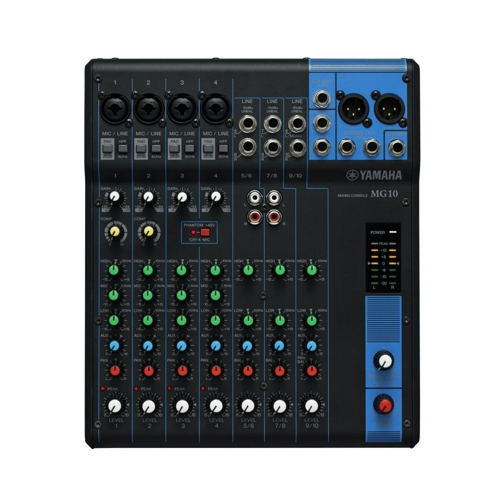 yamaha mg10 10 channel mixing console. Black Bedroom Furniture Sets. Home Design Ideas
